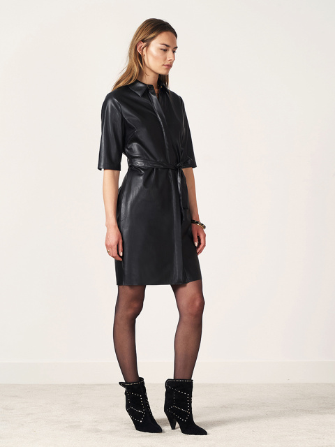 Baroon faux leather dress