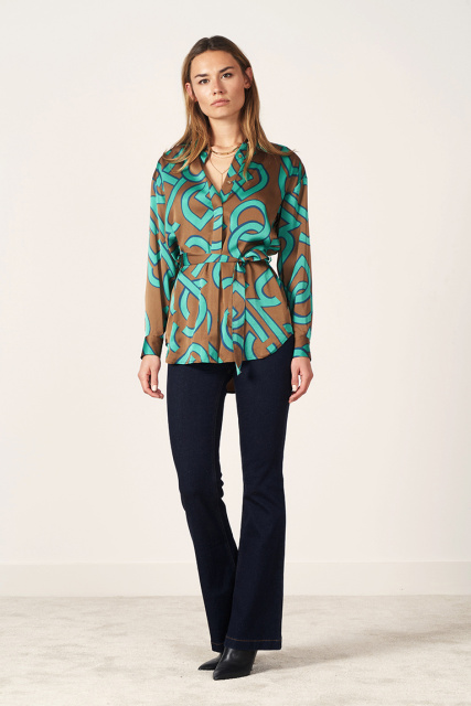 Malai belted blouse
